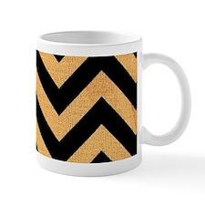 Black burlap zigzags Mugs