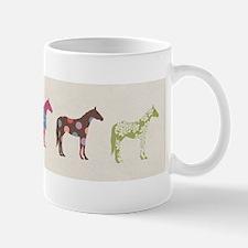 Colorful Horse Pattern Mugs