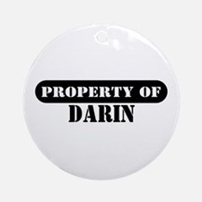 Property of Darin Ornament (Round)