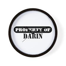 Property of Darin Wall Clock