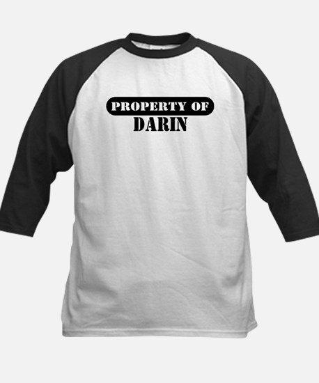Property of Darin Kids Baseball Jersey