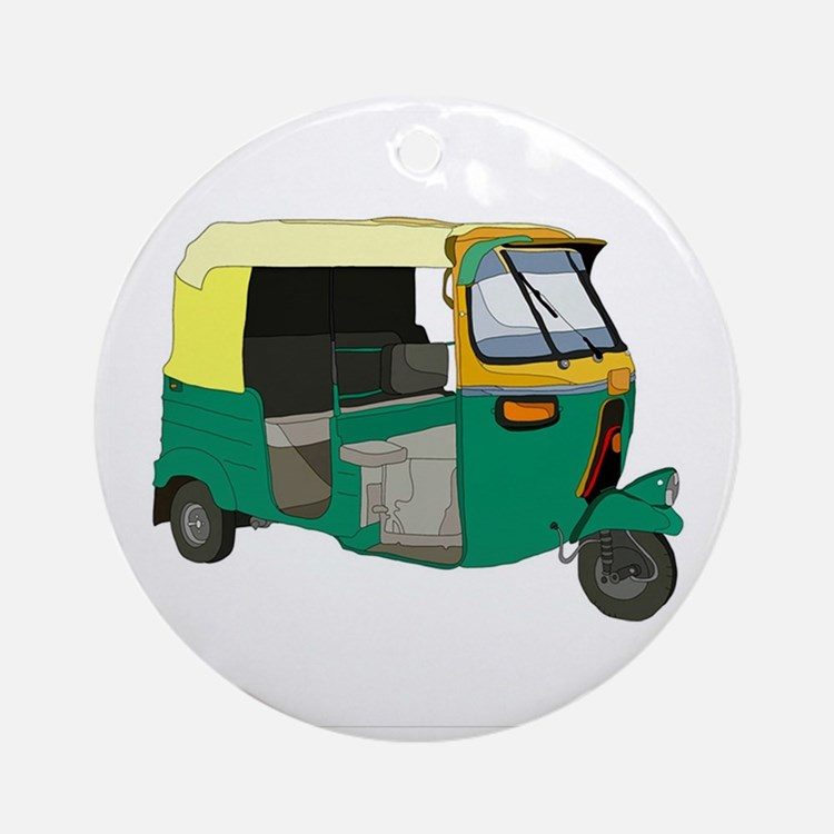 Indian Auto rickshaw Round Ornament