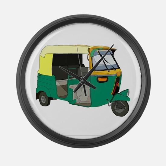 Indian Auto rickshaw Large Wall Clock