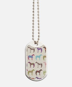 Colorful Horse Pattern Dog Tags