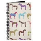 Colorful horse pattern Journals & Spiral Notebooks