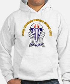 DUI - 173rd Abn Bde Combat Team with Text Hoodie