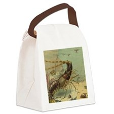Vintage Marine Life, Shrimp Canvas Lunch Bag