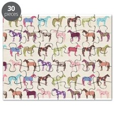 Colorful Horse Pattern Puzzle