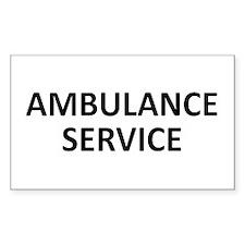 Ambulance Services - black Decal