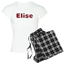 Elise Santa Fur Pajamas