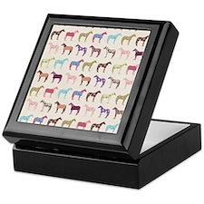 Colorful Horse Pattern Keepsake Box