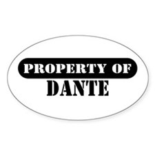Property of Dante Oval Decal