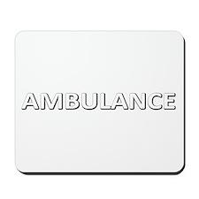 Ambulance - White Mousepad