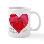 Red Rose in Heart Valentine Mug