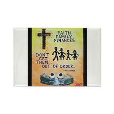 Faith, Family, Finances Magnets