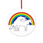 Humping Unicorns Ornament (Round)
