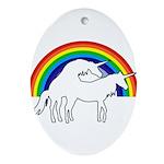 Humping Unicorns Ornament (Oval)