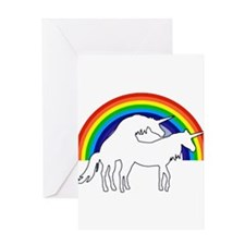 Humping Unicorns Greeting Cards