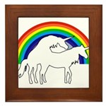 Humping Unicorns Framed Tile