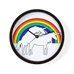Humping Unicorns Wall Clock