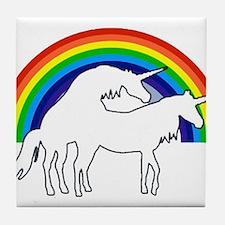 Humping Unicorns Tile Coaster