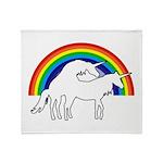 Humping Unicorns Throw Blanket