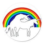Humping Unicorns Round Car Magnet