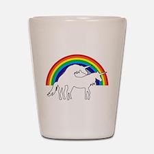 Humping Unicorns Shot Glass