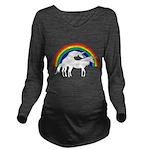 Humping Unicorns Long Sleeve Maternity T-Shirt