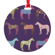 Colorful Horse Pattern Ornament