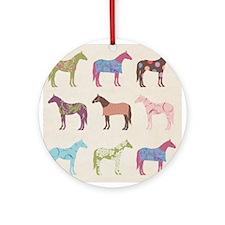 piColorful Horse Pattern Ornament (Round)