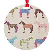 piColorful Horse Pattern Ornament