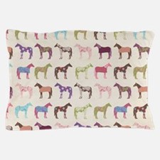 piColorful Horse Pattern Pillow Case