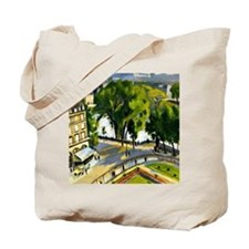 View of the Quai de Louvre, painting by R Tote Bag