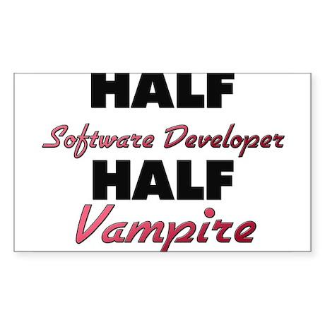 Half Software Developer Half Vampire Sticker