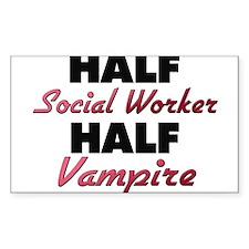 Half Social Worker Half Vampire Decal
