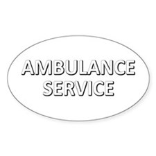 Ambulance Services - white Decal