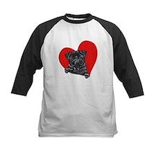 Black Pug Heart Tee