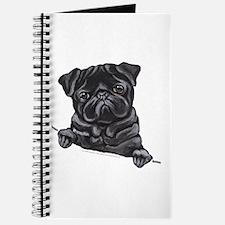 Black Pug Line Art Journal