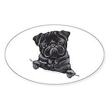 Black Pug Line Art Decal