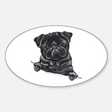 Black Pug Line Art Decal