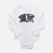 Pug Pals Long Sleeve Infant Bodysuit