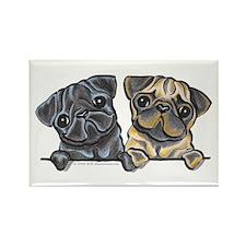 Pug Pals Rectangle Magnet (10 pack)