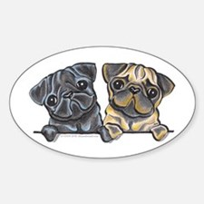 Pug Pals Sticker (Oval)