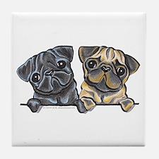 Pug Pals Tile Coaster