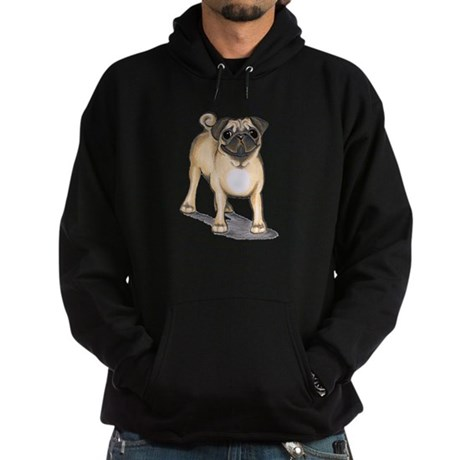 Pug Attention Hoodie (dark)