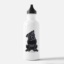 Black Pug Sit Pretty Water Bottle