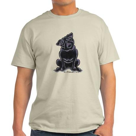 Black Pug Sit Pretty Light T-Shirt