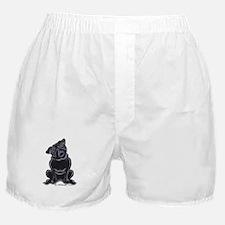 Black Pug Sit Pretty Boxer Shorts