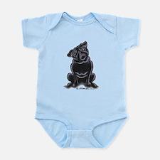 Black Pug Sit Pretty Infant Bodysuit